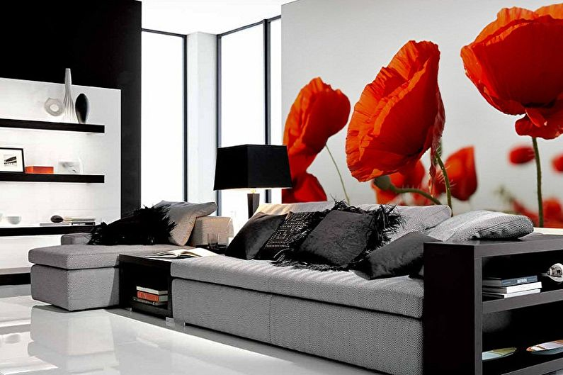 Красные обои для гостиной - Цвет обоев для гостиной