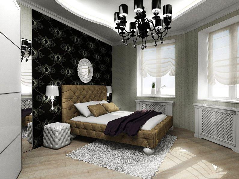 Расстановка мебели в маленькой спальне нестандартной планировки - фото