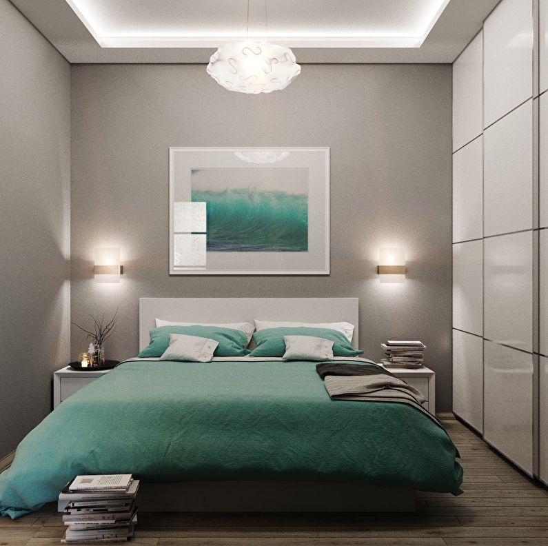 Освещение - дизайн маленькой спальни