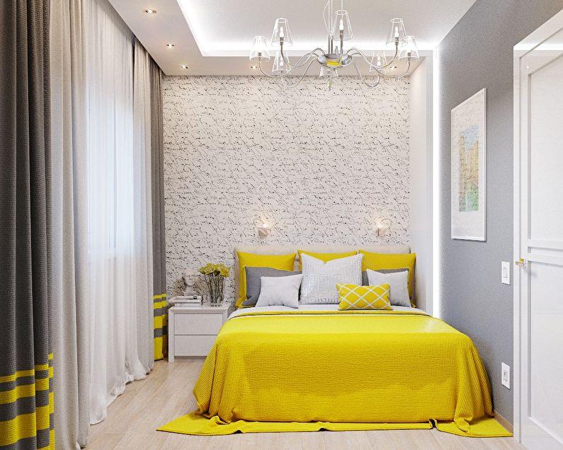 Дизайн маленькой спальни 5-6 кв.м. - фото