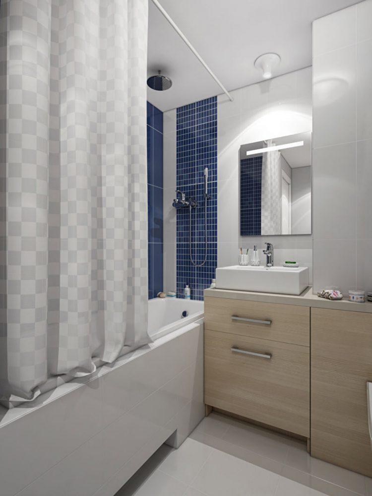 Дизайн ванной комнаты 3 кв.м. в современном стиле - фото