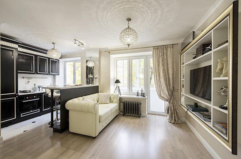 Дизайн маленькой квартиры в классическом стиле