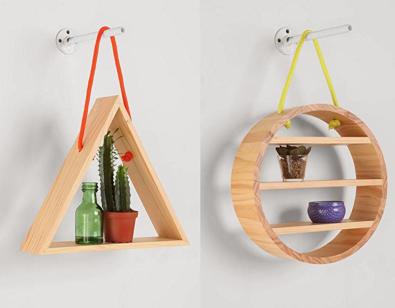Декор комнаты своими руками - Геометрические полки