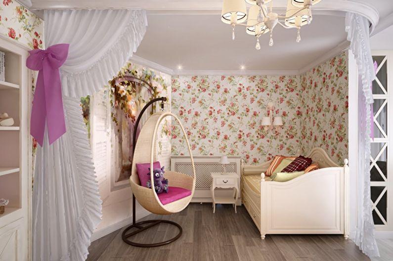 Текстильные обои для детской комнаты