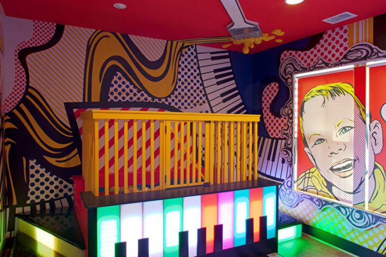 Обои для детской комнаты в стиле поп-арт