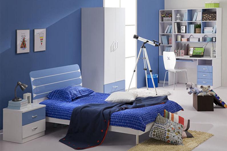 Синие обои для детской комнаты