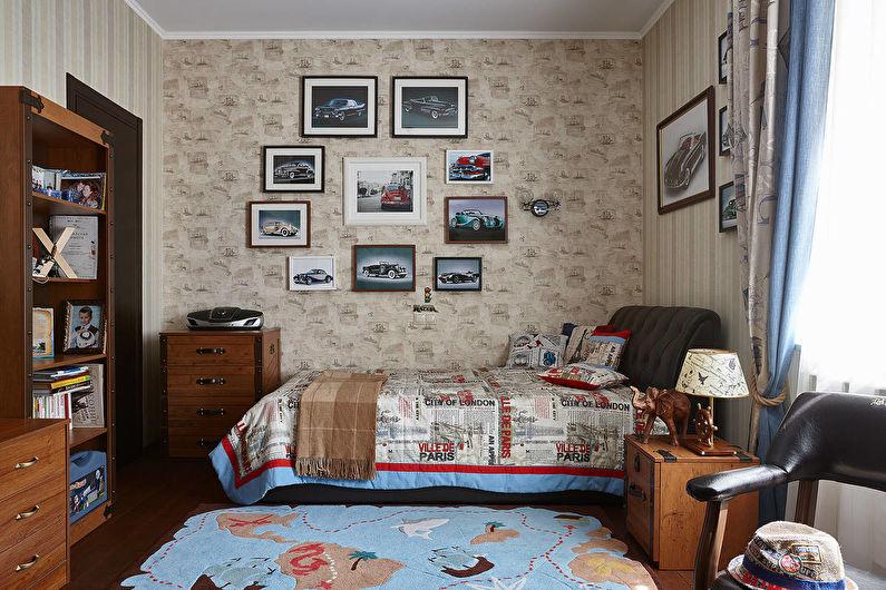 Обои для детской комнаты в английском стиле - фото