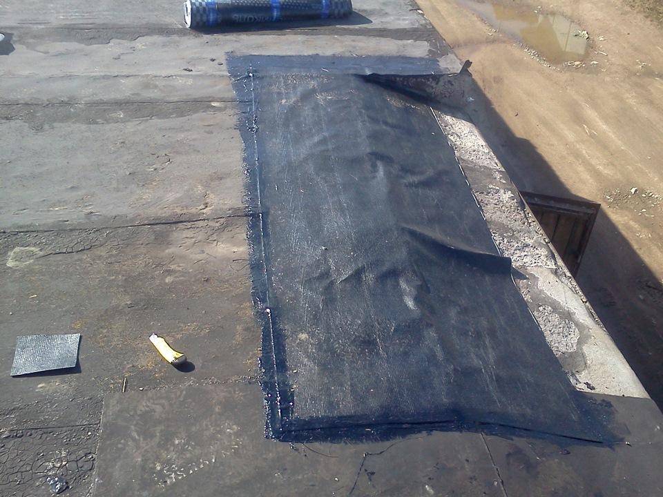 Заплатка на крыше гаража