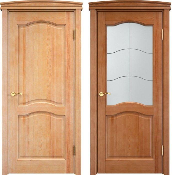 Распашные классические двери из сосны