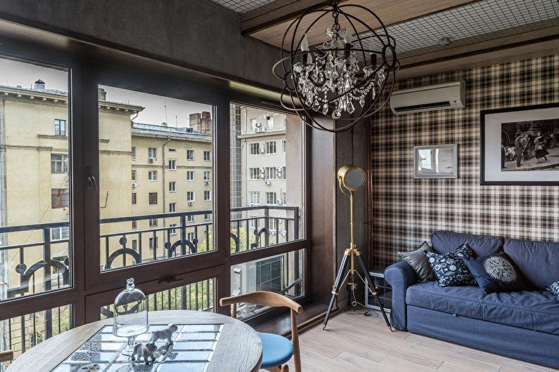 Маленькая гостиная в стиле лофт - Дизайн интерьера