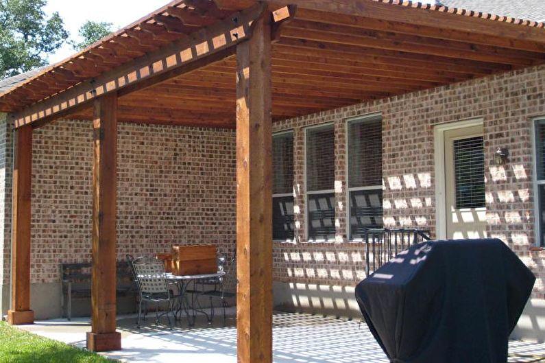 Козырек над крыльцом - фото