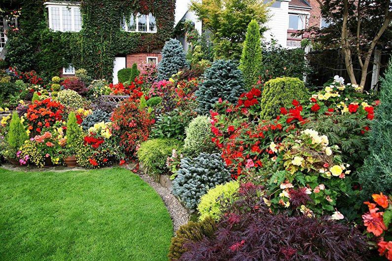 Как оформить клумбу из многолетних цветов для дачи и сада