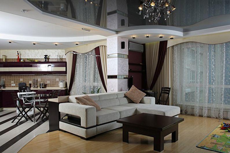 Перепланировка однокомнатной квартиры - Совмещение с кухней