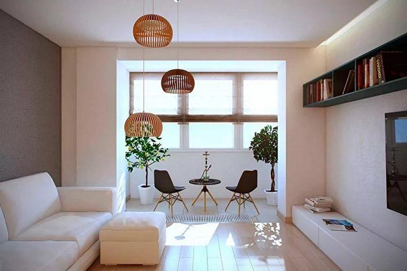 Перепланировка однокомнатной квартиры - Объединение комнаты с лоджией