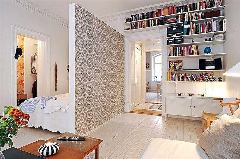 Перепланировка однокомнатной квартиры - Разделение на две комнаты