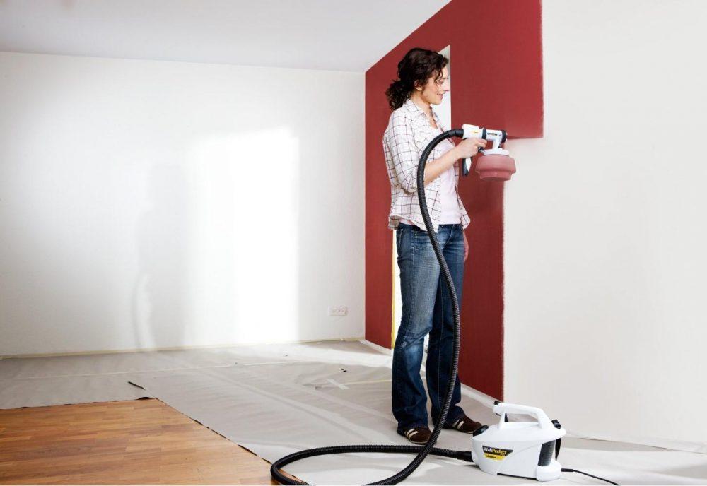 пример применения водоэмульсионной краски в отделке стен квартиры