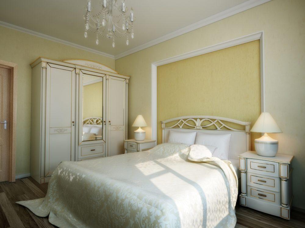 необычный дизайн маленькой спальни