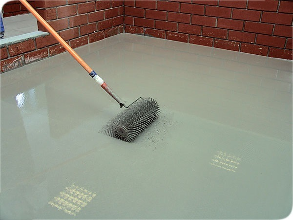 фото укладка плитки на бетонное основание