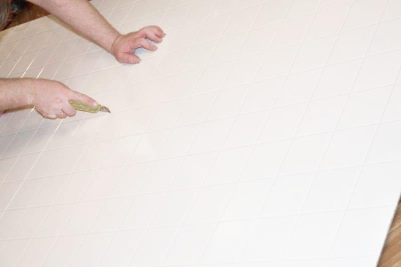 Раскрой пластикового фартука