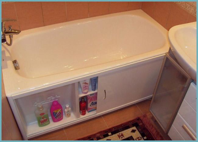 преимущества раздвижного экрана под ванну