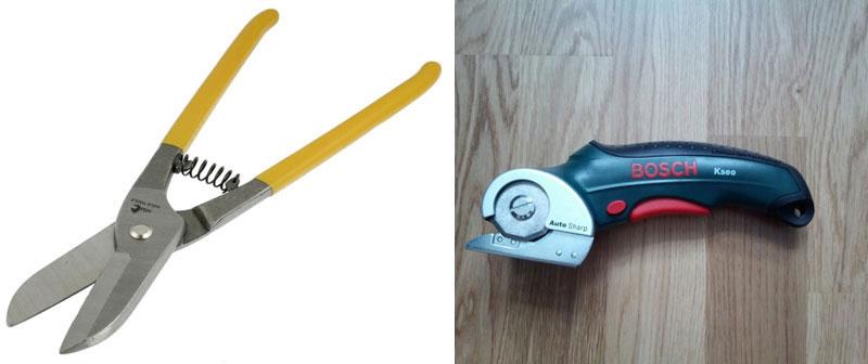 Ручные ножницы отлично подходят для резки профнастила с невысокой волной