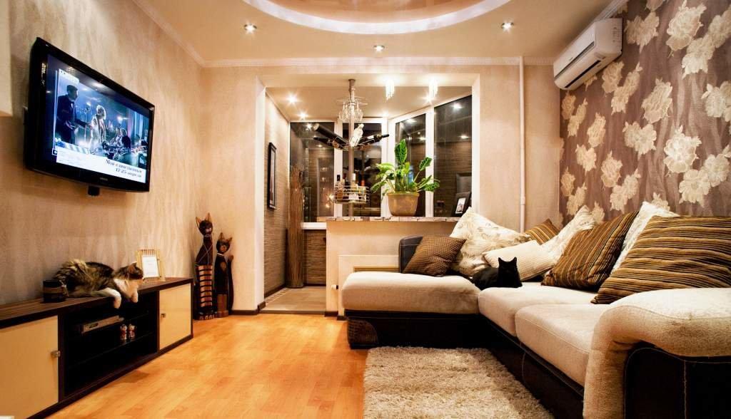 Дизайн спальни в однокомнатной квартире