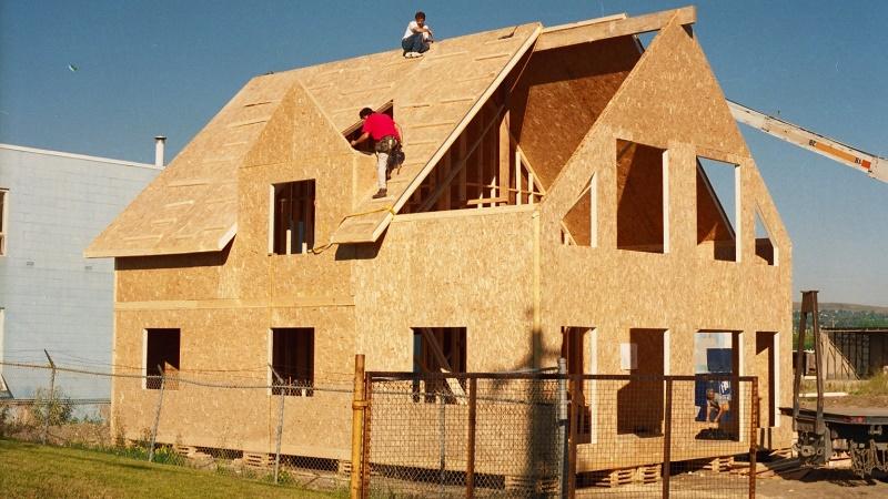 щиты ОСП для домов из дерева