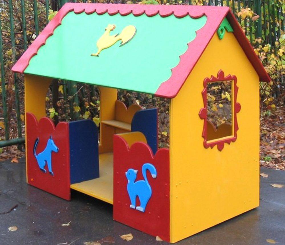 схема каркаса дачного детского домика на улице