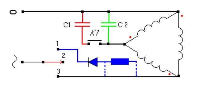 Базовая схема с организацией цепи динамического торможения