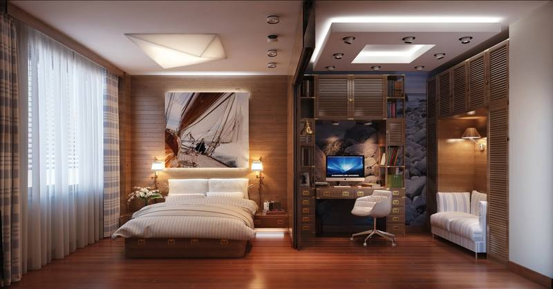 Светильники в зоне сна