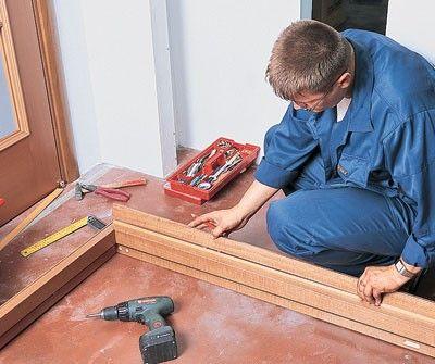 установка двойных дверей межкомнатных