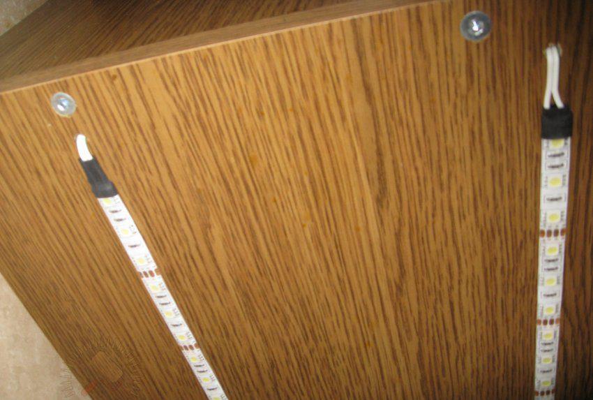 Установка светодиодной ленты под кухонный шкаф