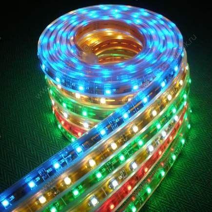 Светодиодная лента бывает не только белой, но и многоцветной