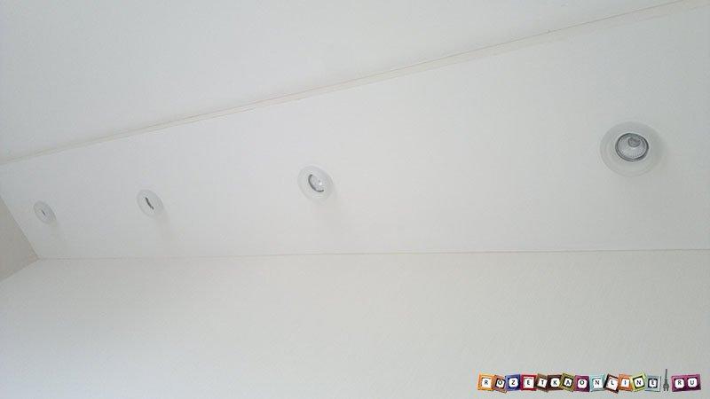 Установка встраиваемых светильников