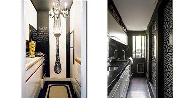 узкие длинные кухни
