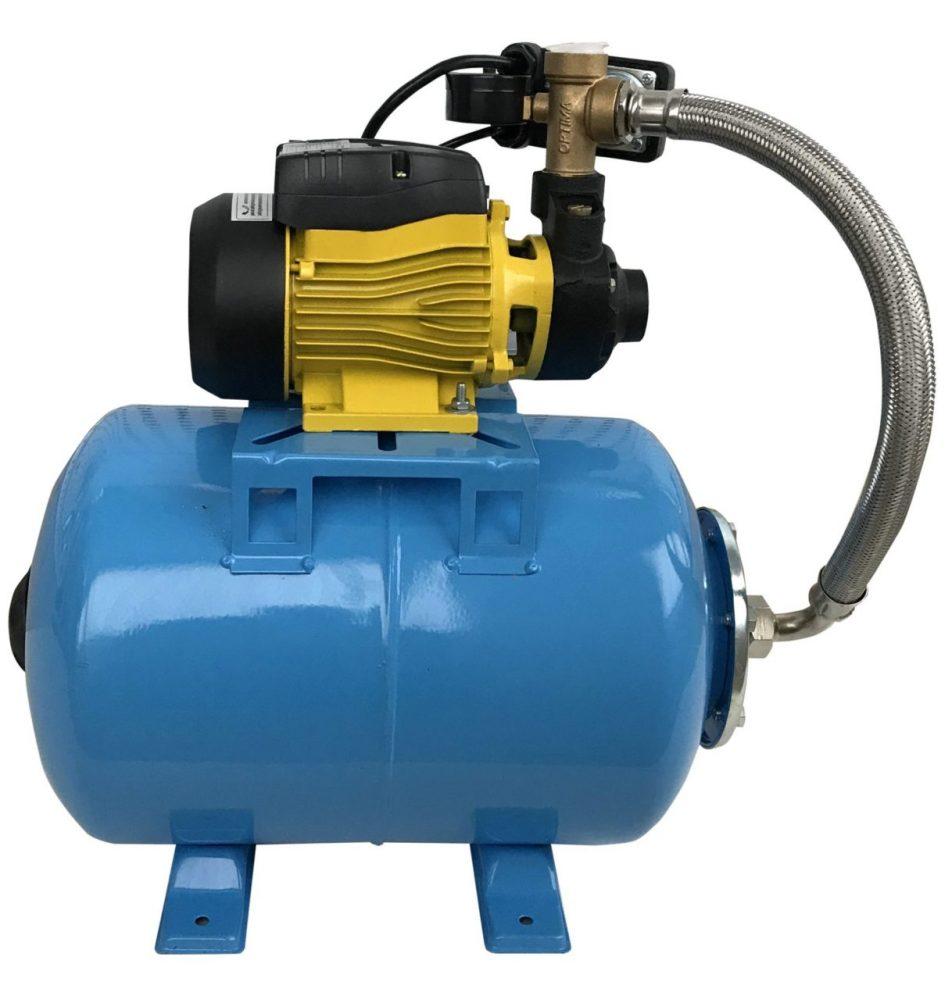 Насосная станция. Состоит из реле, реагирующего на давление, и гидроаккумулятора, обеспечивающего плавное изменение давления в системе водопровода