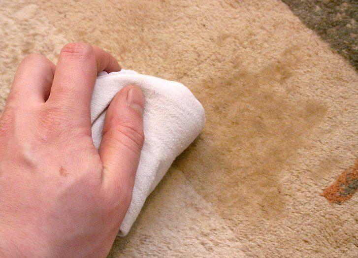 Чем смыть краску с ковров