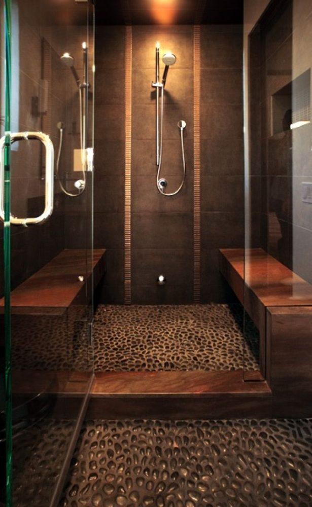 Каменный пол в ванной