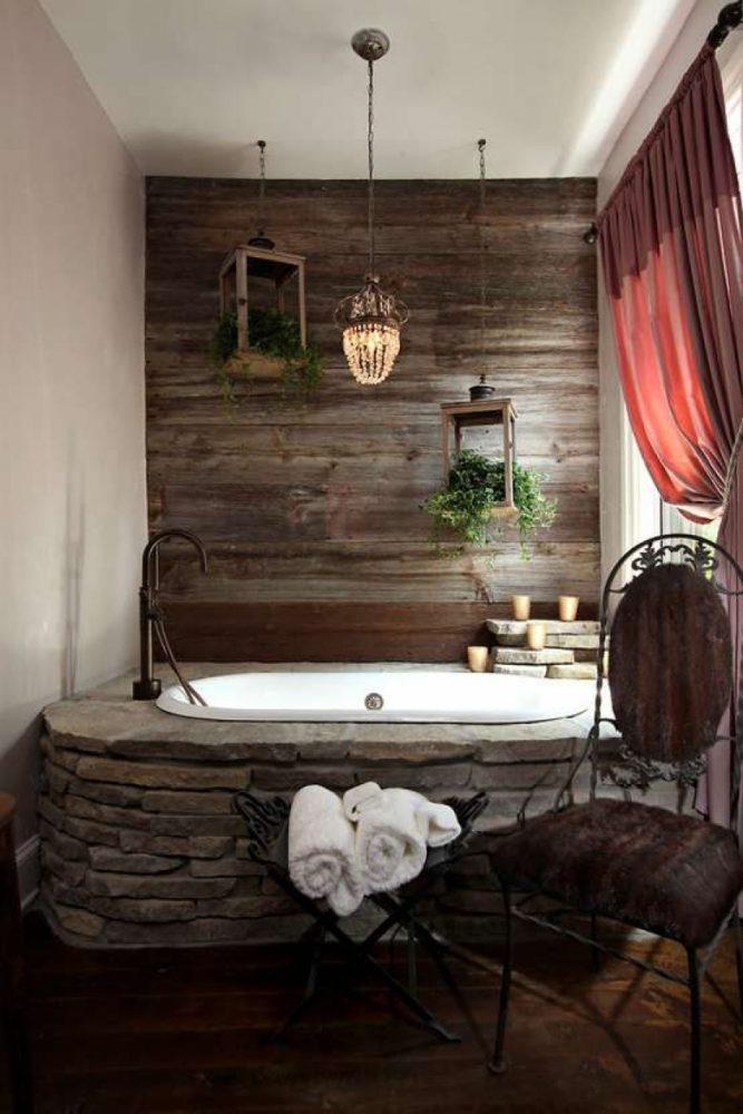 Каменное обрамление ванной