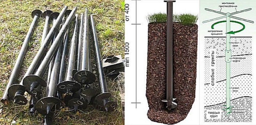 Винтовые сваи – оптимальное основание для металлического крыльца