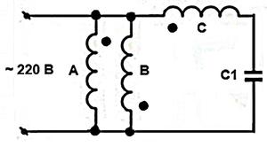Включение трехфазного электродвигателя в однофазную сеть