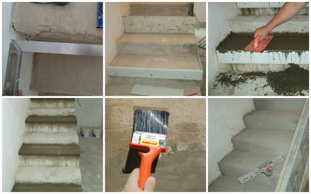 Этапы подготовки бетонной лестницы к облицовке