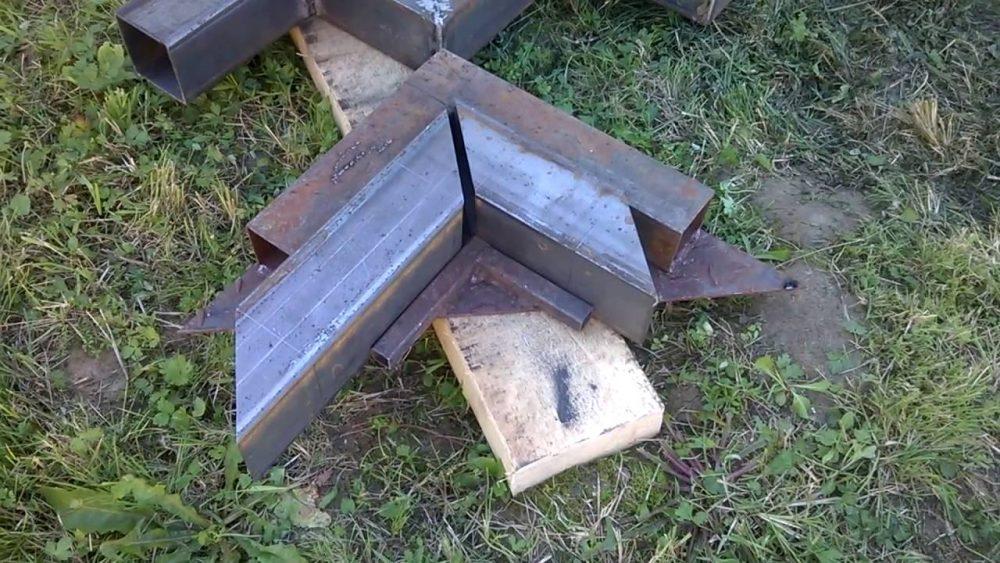 Заготовки из профтрубы для изготовления гребенки