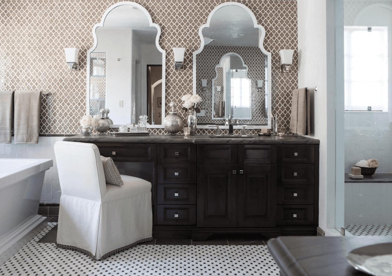 Оригинальный дизайн зеркала в интерьере ванной комнаты - Фото 8