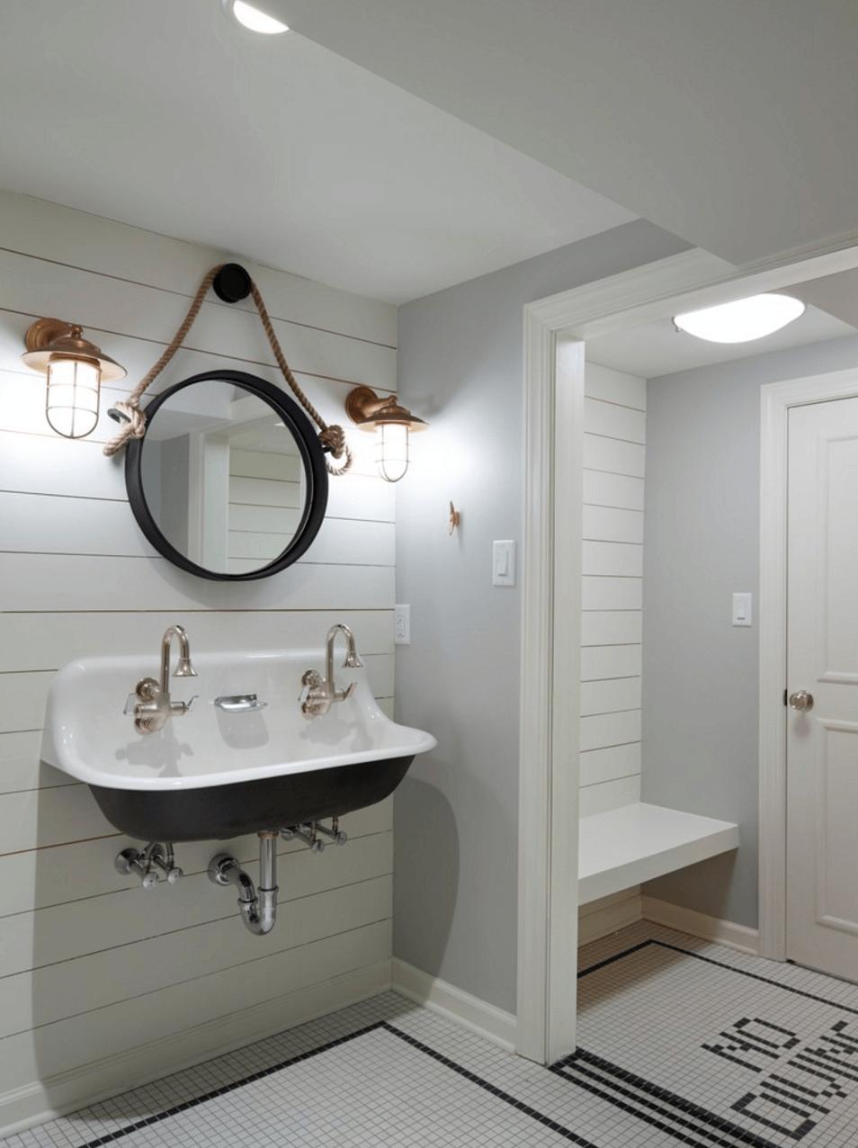 Оригинальный дизайн зеркала в интерьере ванной комнаты - Фото 11