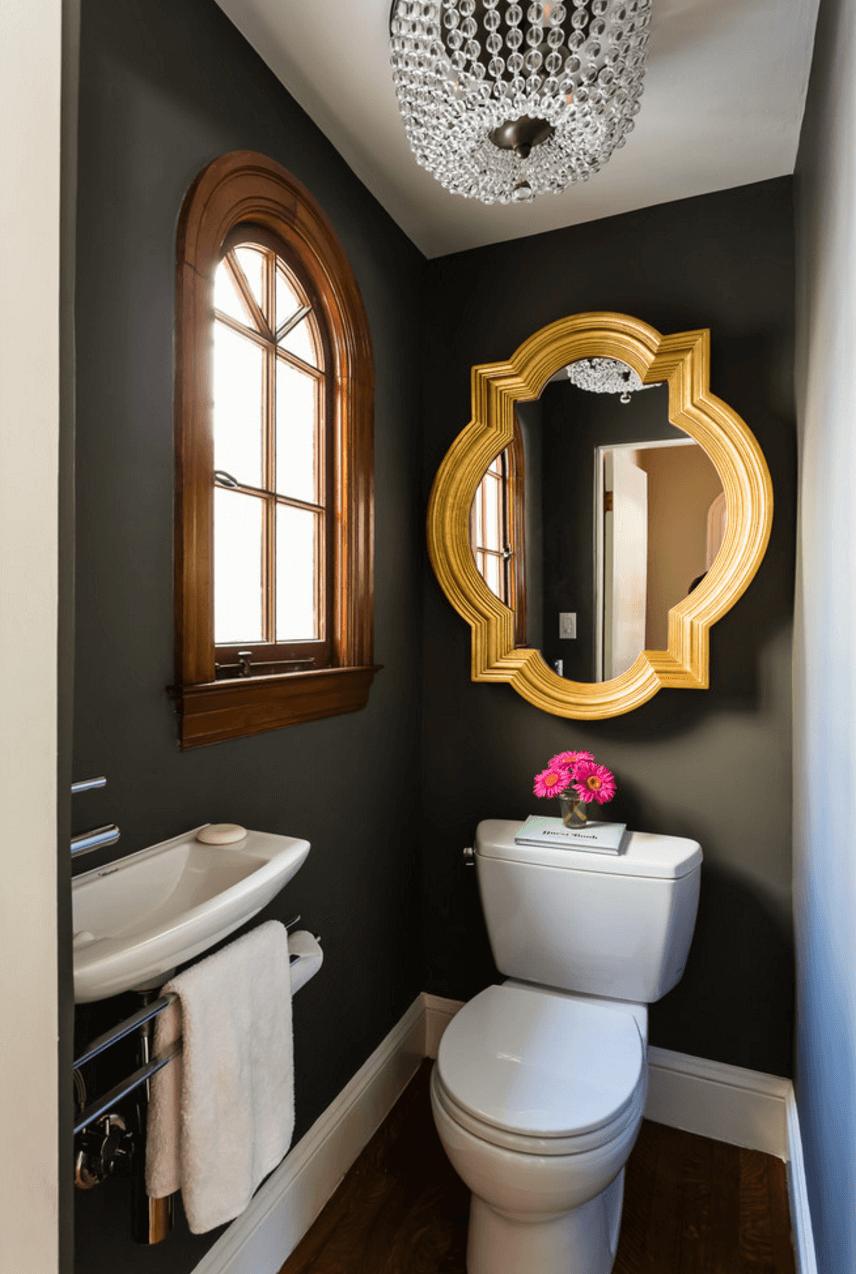 Оригинальный дизайн зеркала в интерьере ванной комнаты - Фото 25