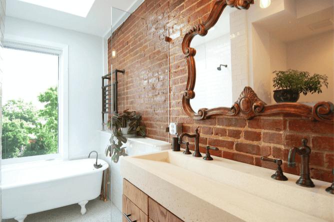Оригинальный дизайн зеркала в интерьере ванной комнаты - Фото 30