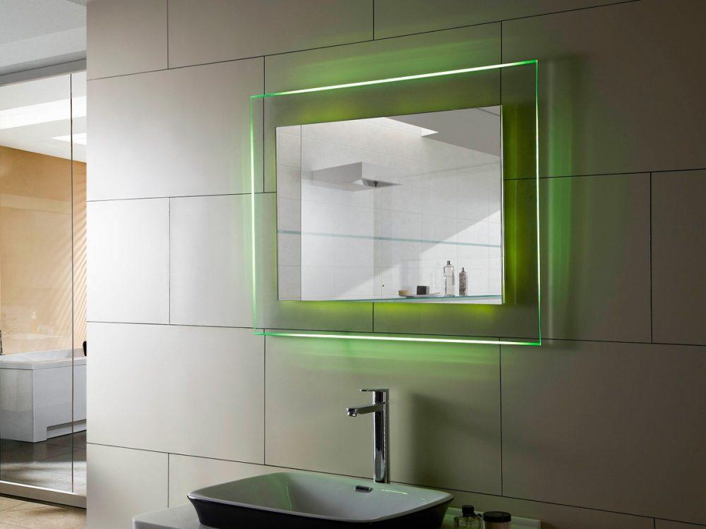 Легкая зеленых оттенков подсветка служит больше для украшения комнаты